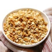 bowl of gluten-free pumpkin spice granola