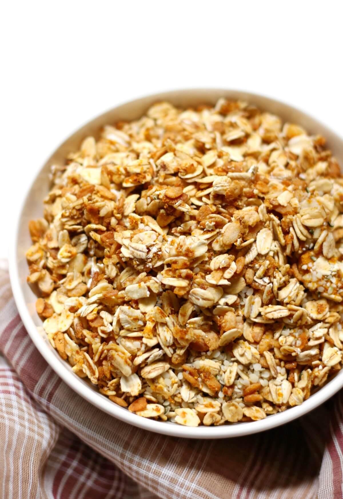 close up of gluten-free pumpkin spice granola