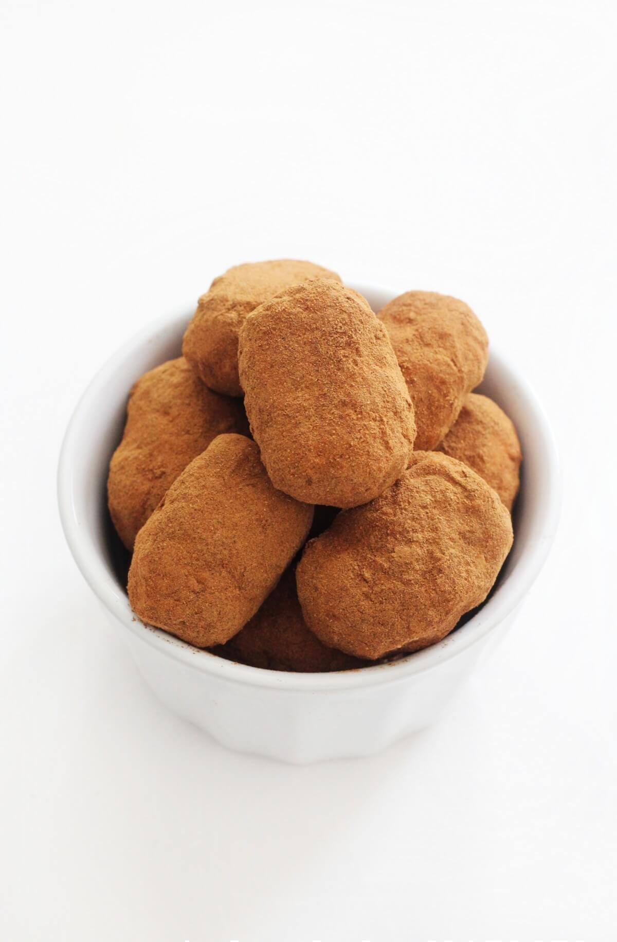 bowl of homemade Irish potato candy