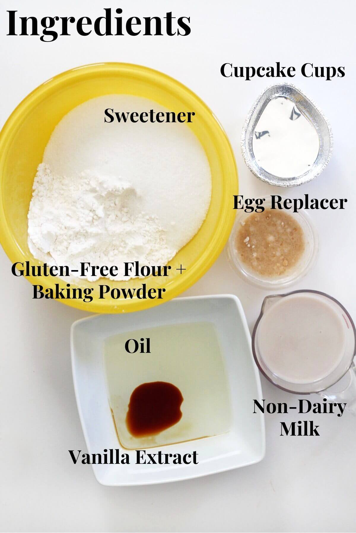 vegan easter egg cupcake ingredients