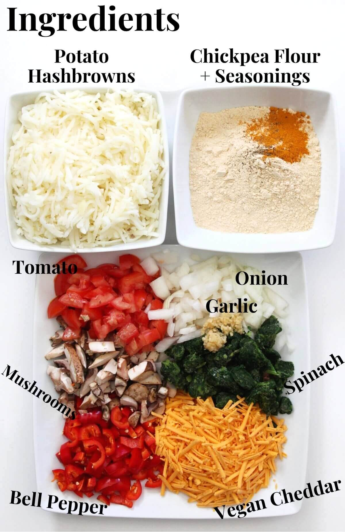 ingredients for vegan breakfast casserole