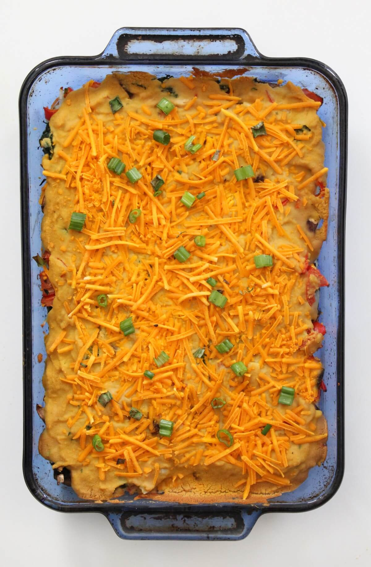 uncut full baked vegan breakfast casserole