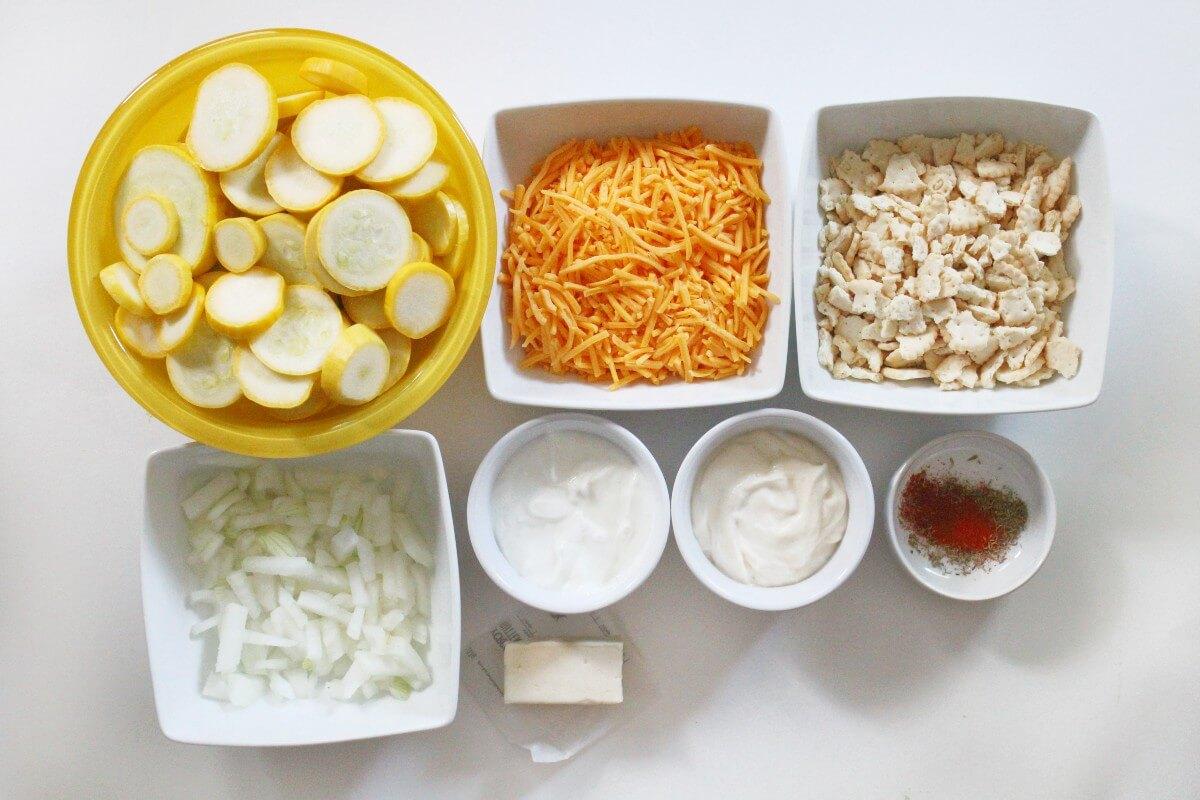 ingredients for vegan squash casserole