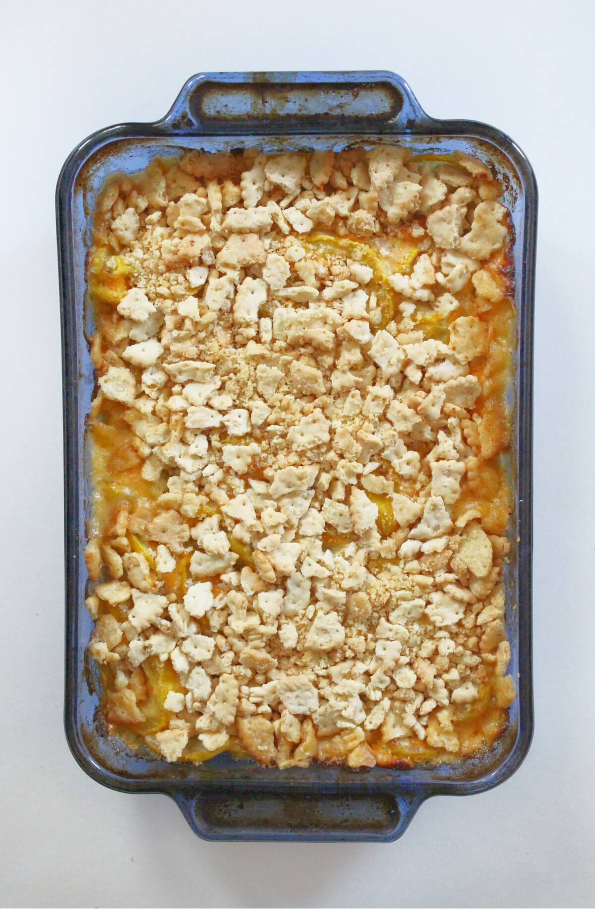 fully baked vegan southern squash casserole