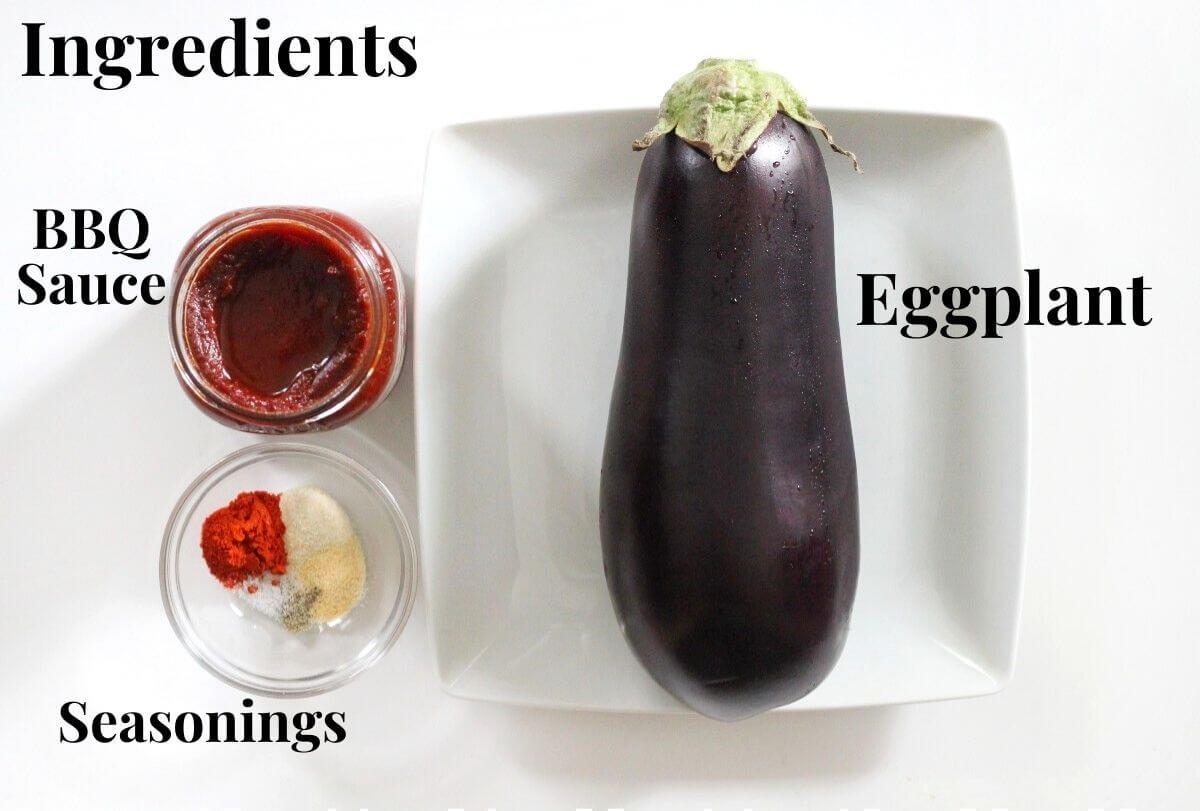 bbq grilled eggplant ingredients