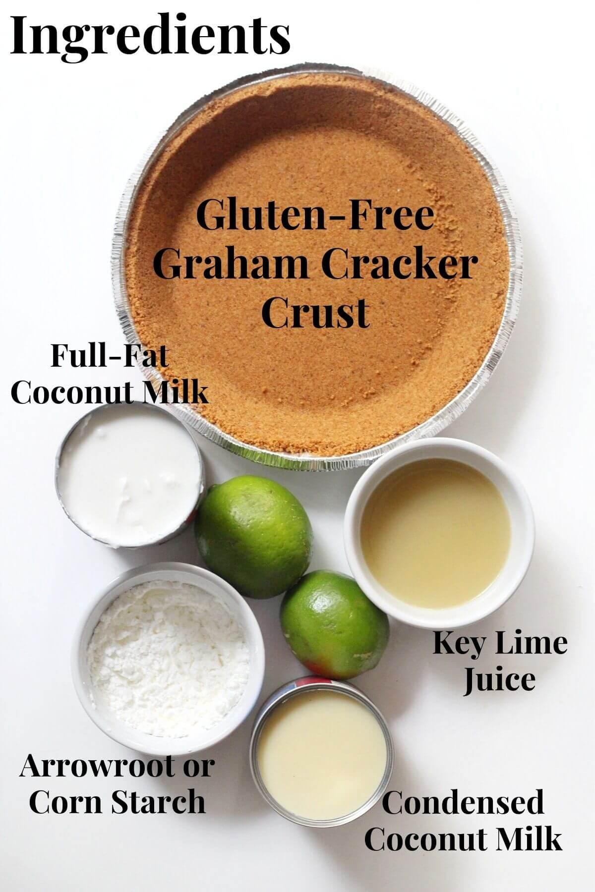 vegan and gluten-free key lime pie ingredients