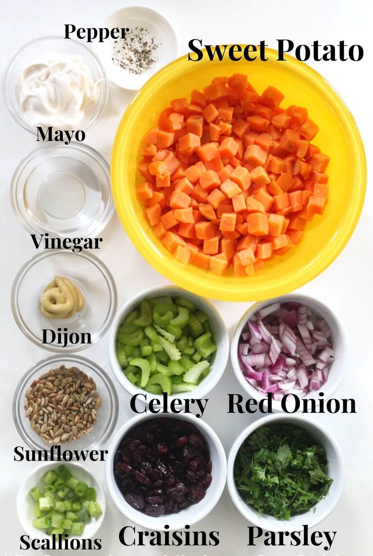 sweet potato potato salad ingredients