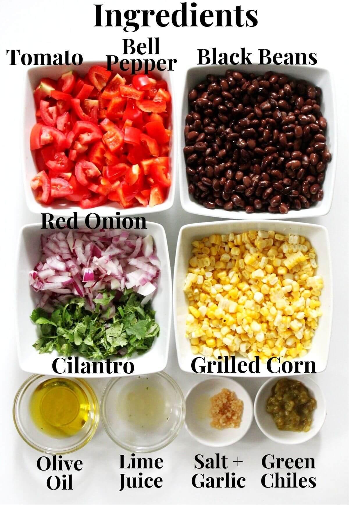 black bean and corn salsa ingredients