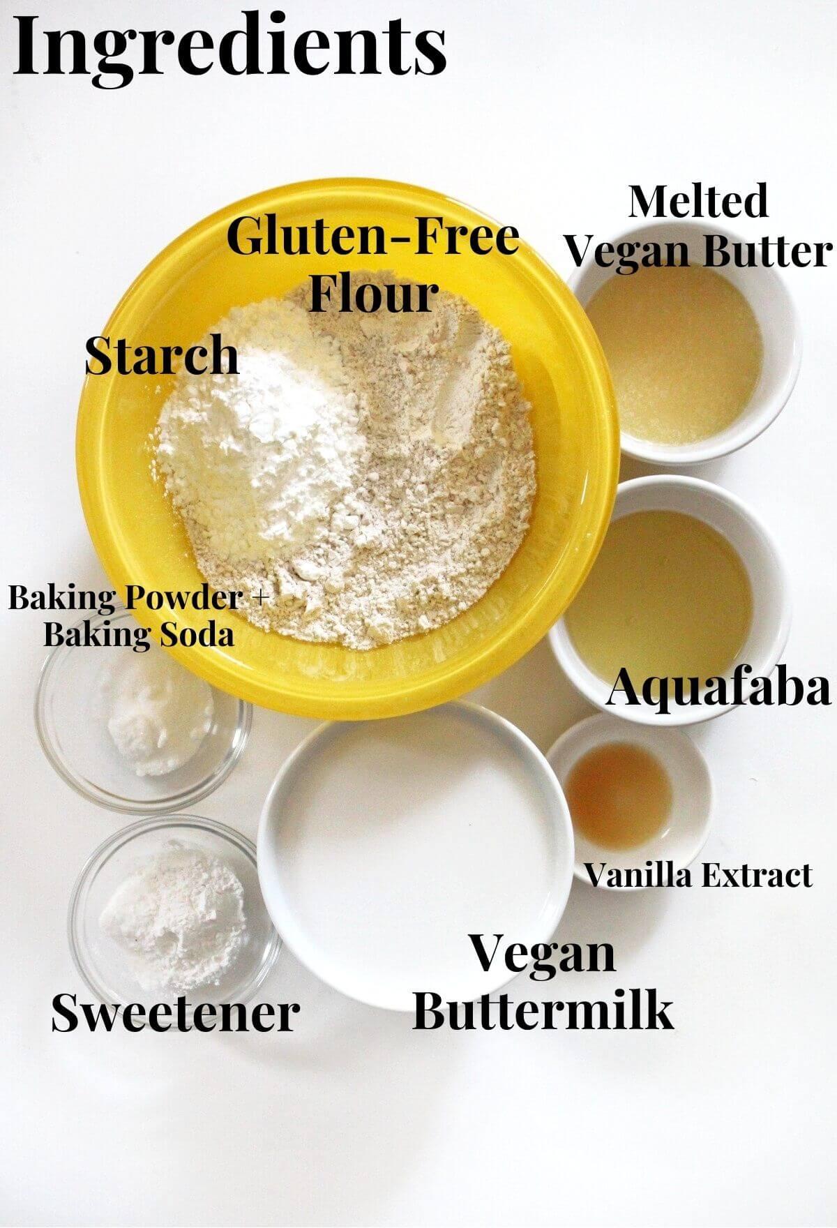 gluten-free and vegan buttermilk waffle ingredients