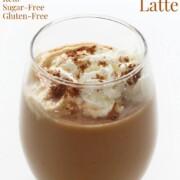 vegan pumpkin spice latte with image text